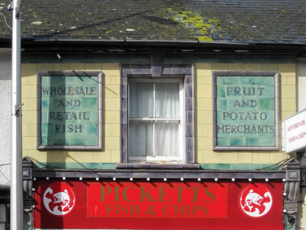 Ceramic tile signs in Exeter Road, Exmouth