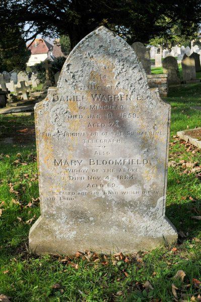 Daniel Warren's gravestone