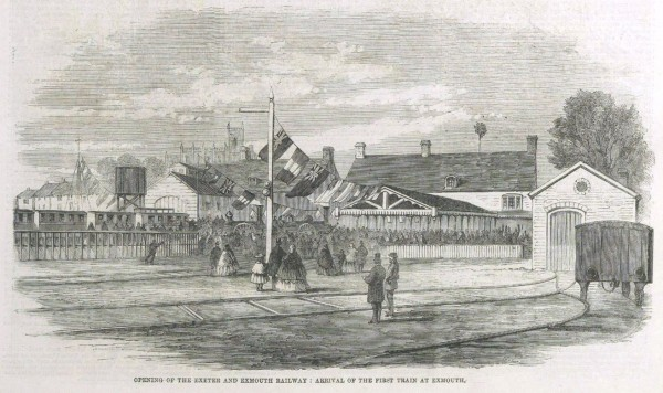 Exmouth's first railway station