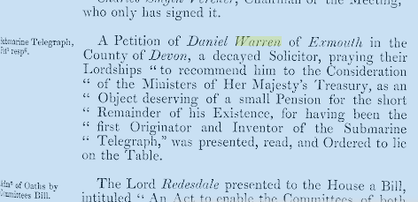 Daniel Warren petition