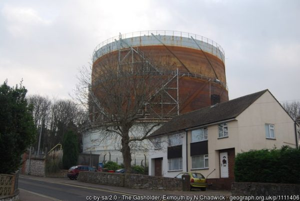 Albion Hill Gas Holder Exmouth